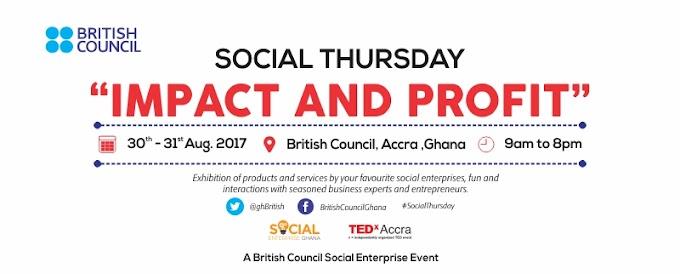 British Council, Ghana announces August 30-31 'Social Thursday' event