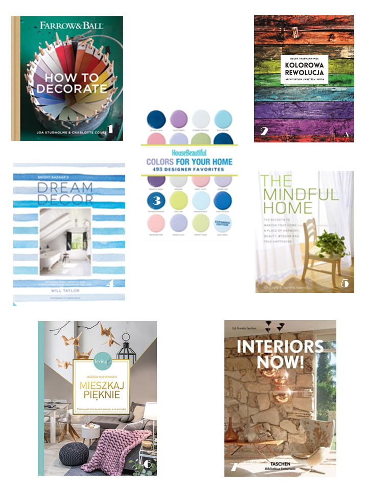 poradniki wnętrzarskie książki jak dekorować wnętrza kolorami