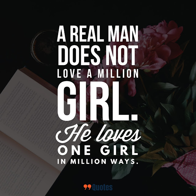 short quote on man's love