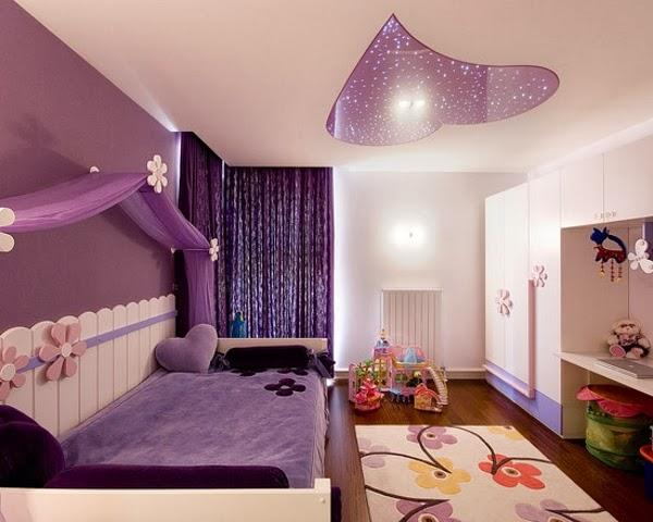 Habitación chica adolescente lila