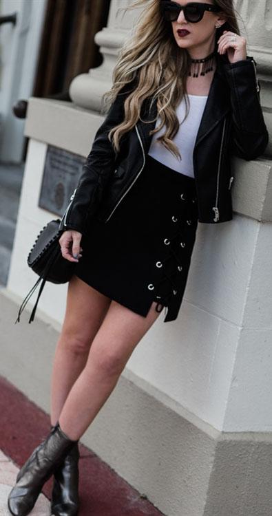 Stylish Tie Bud Skirt in Black #tiebudskirts
