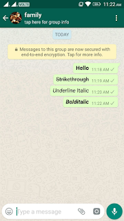 Whatsapp Font style Text
