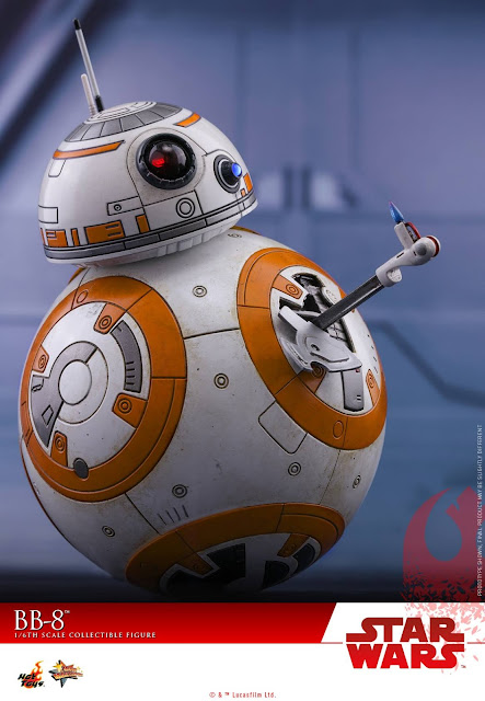 osw.zone Watch the Hot Toys Star Wars: The Last Jedi 1/6 Scale Astromech BB-8 Collector Figure