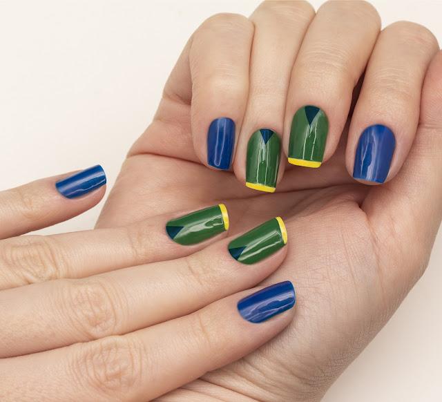 inspiração de unhas para a copa. look para copa 2018, copa do mundo 2018, risqué esmaltes, nails para copa, unhas jogos do brasil