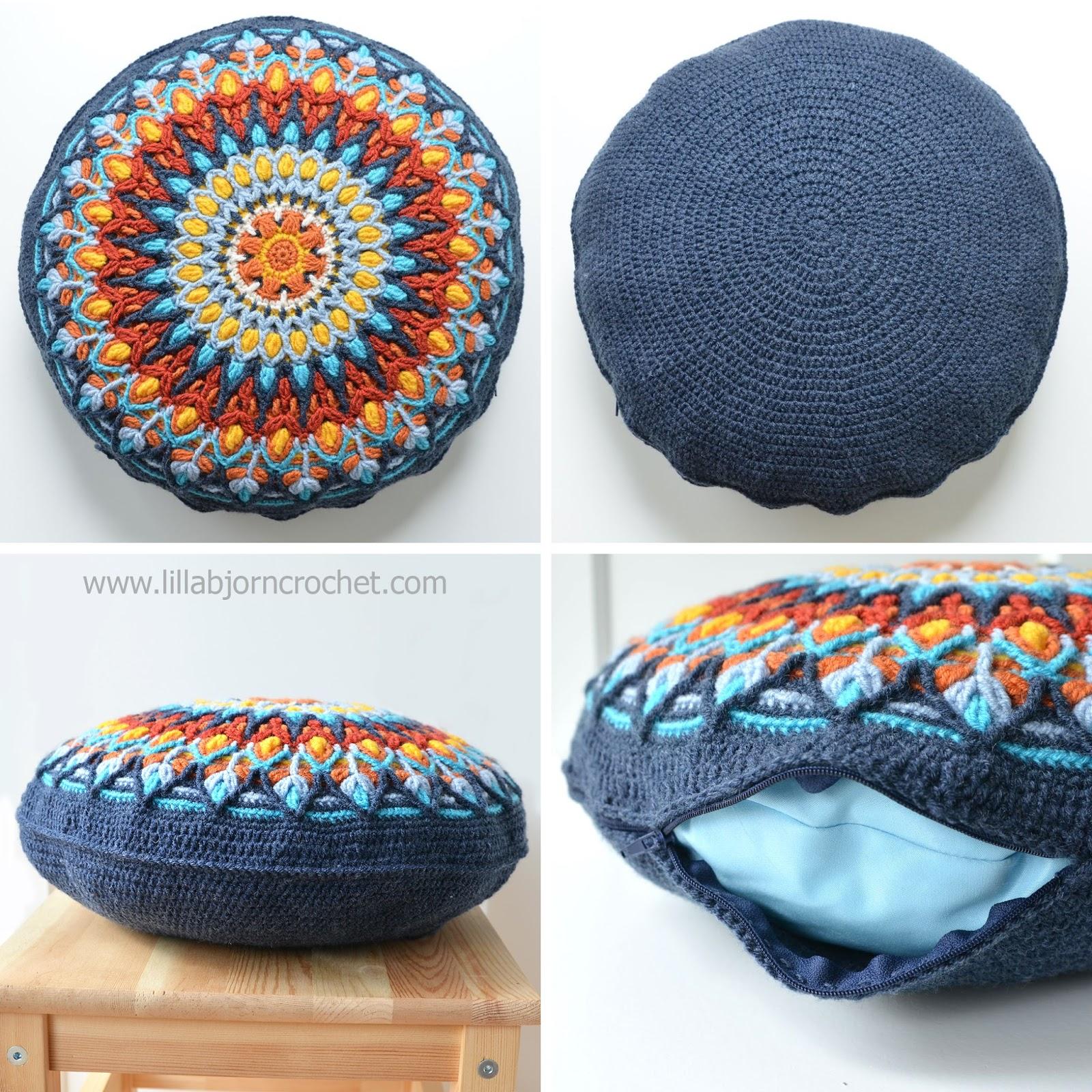 spanish mandala cushion pattern by lilla bjorn crochet