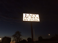 LaZY Acres RV Park Sign