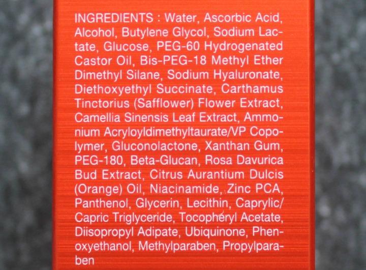 OST C20 Original Pure Vitamin C20 Serum Vitamin C ingredients