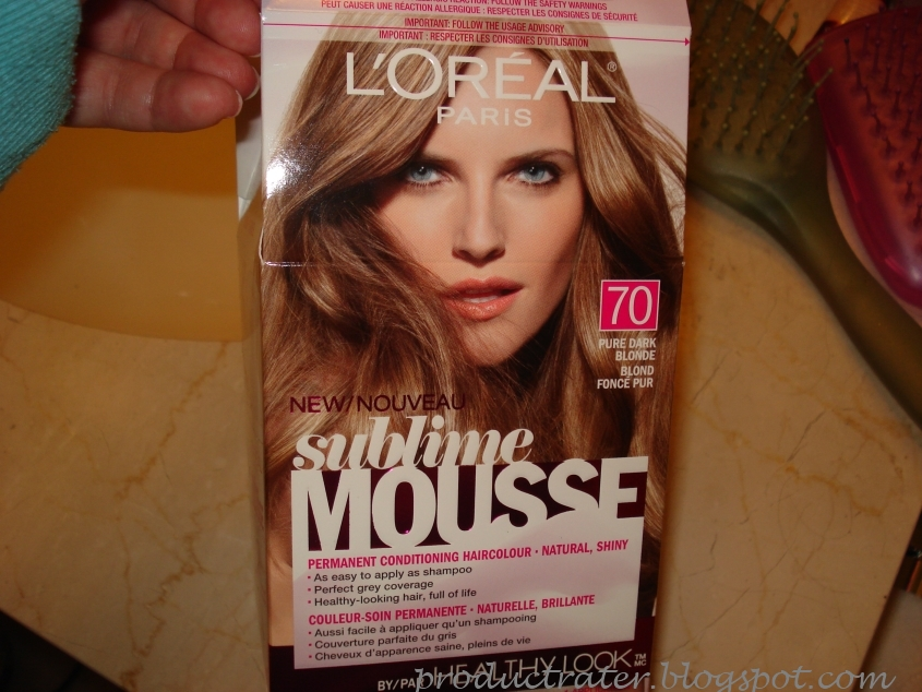 Productrater Review L Oreal Sublime Mousse Hair Coloring