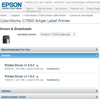 C7500G Driver Versions