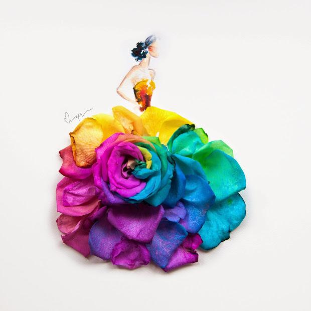 Dresses Flower Drawings