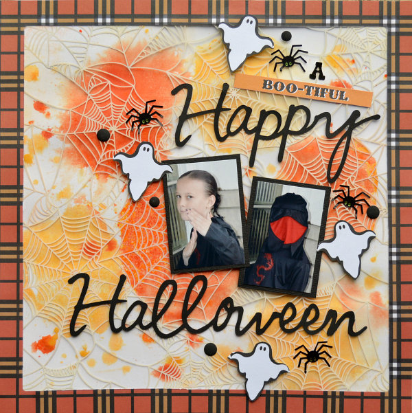 Mixed Media with a Twist Halloween Scrapbook Layout