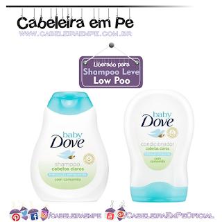 Shampoo e Condicionador Hidratação Enriquecida Cabelos Claros - Dove Baby (Shampoo e Condicionador liberados para Low Poo)