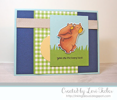 The Beary Best card-designed by Lori Tecler/Inking Aloud-stamps and dies from Mama Elephant