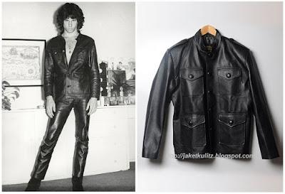Gambar Model Jaket Kulit Jim Morrison Vintage