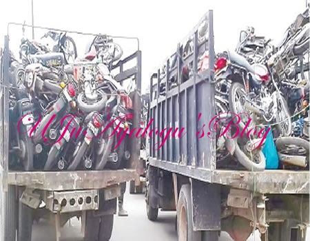 Lagos task force impounds 146 motorcycles, prosecutes 21 riders