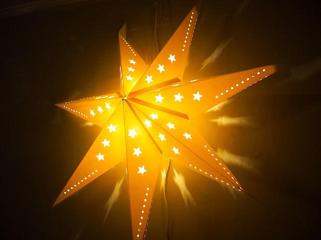 Shining star Christmas lantern decoration