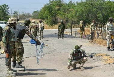 boko haram steal 2 military gun trucks