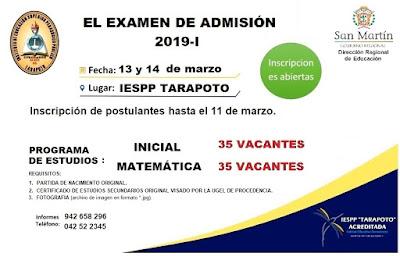 pedagogico tarapoto_admision_2019_I