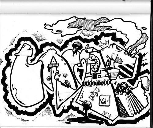 GRAFITY ART: Sketch Graffiti Alphabet Letters On Paper