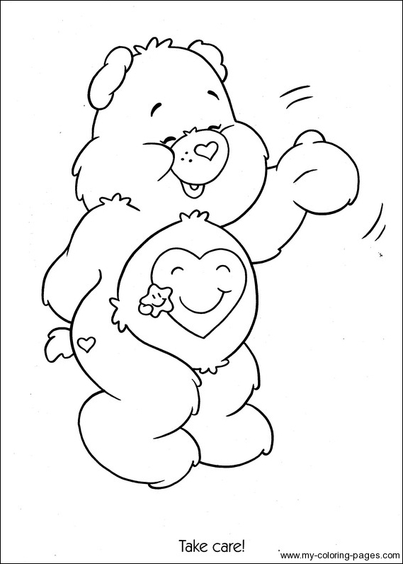 take care bear colouring pages