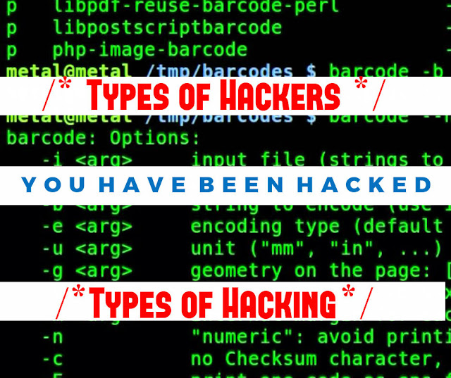 Types of Hackers and Types of Hacking - Banner