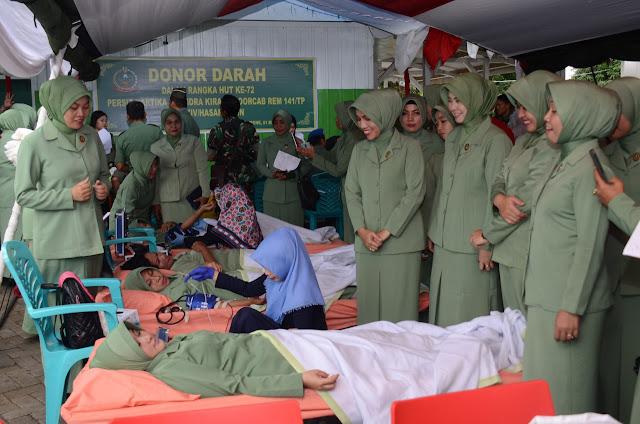 Satjar Korem 141/Tp Berhasil Sumbangkan 605 Kantong Darah Buat Kemanusiaan
