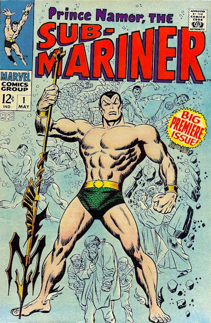 Sub-mariner v1 #1, 1968 marvel bronze age comic book cover