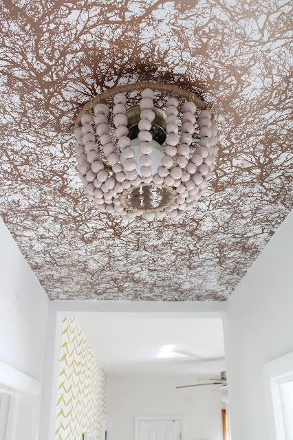 Make a papier mache beaded chandelier