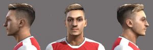 PES 2013 Mesut Ozil Face Hair 2018