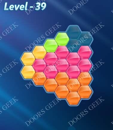 Block! Hexa Puzzle [5 Mania] Level 39 Solution, Cheats, Walkthrough for android, iphone, ipad, ipod