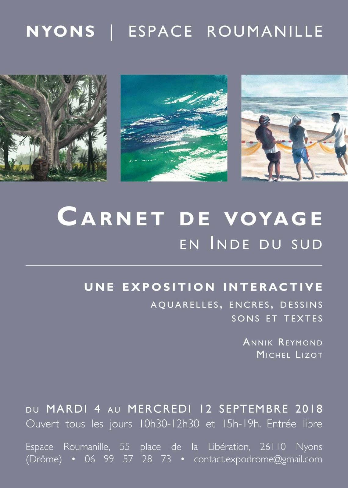 Expo Carnet de voyage en Inde - Annik Reymond Michel Lizot