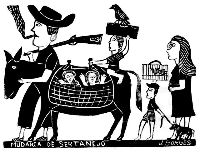 A exibição de O Entalhe do Sertão - A Arte de J. Borges no Projeto Na Corda do Cordel