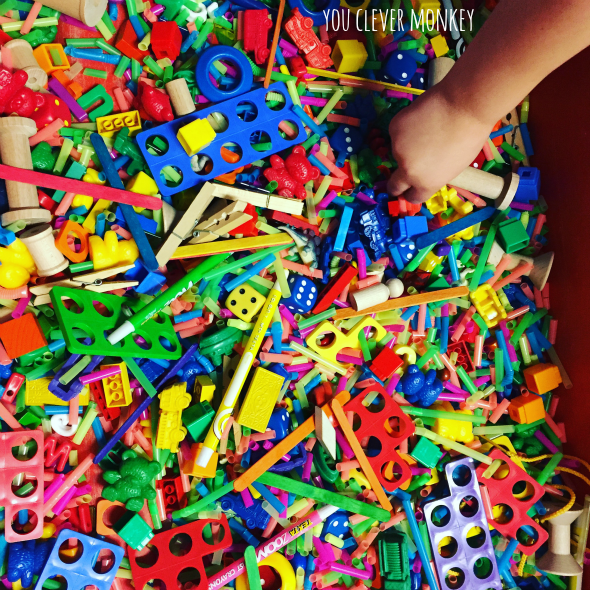 Make your own I Spy Sensory tub for play | you clever monkey