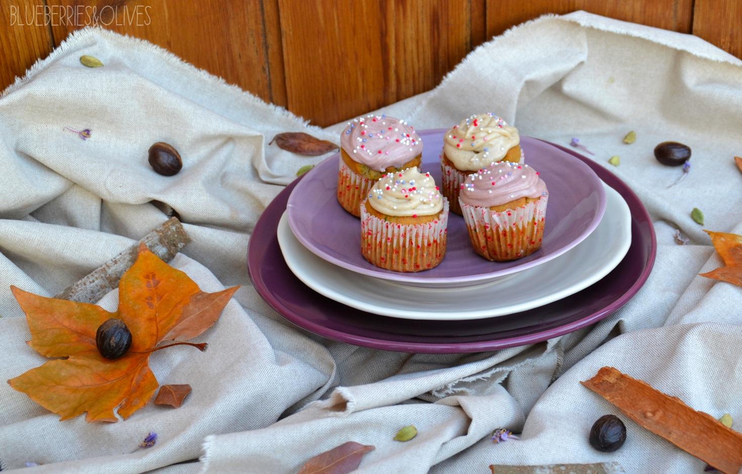 Cupcakes de calabacín, cardamomo y anís 4