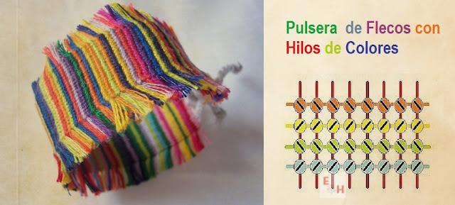 Como hacer una Pulsera Hippie de Flecos