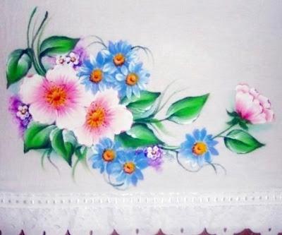 pano de prato pintado a mão