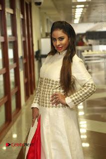 Telugu Actress Sri Reddy Mallidi Stills in White Beautiful Dress at Marriage Needs Bridal Fashion Week 2017 Logo Launch  0005.JPG