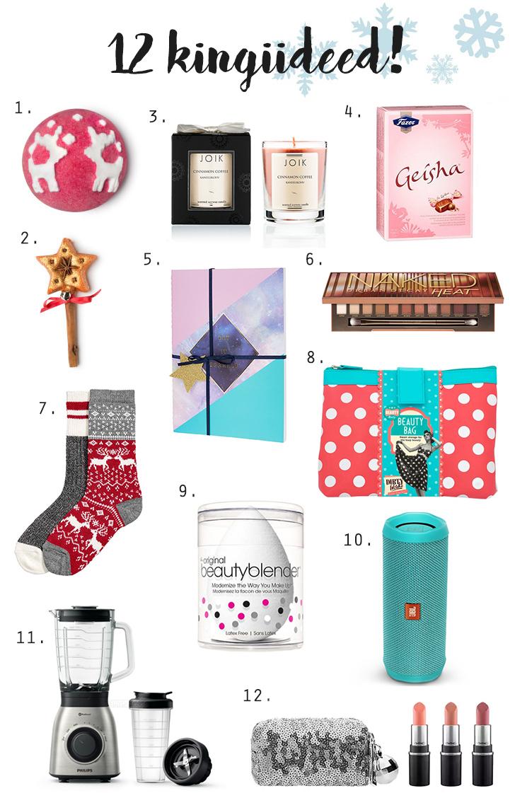 kingiideed jõuludeks
