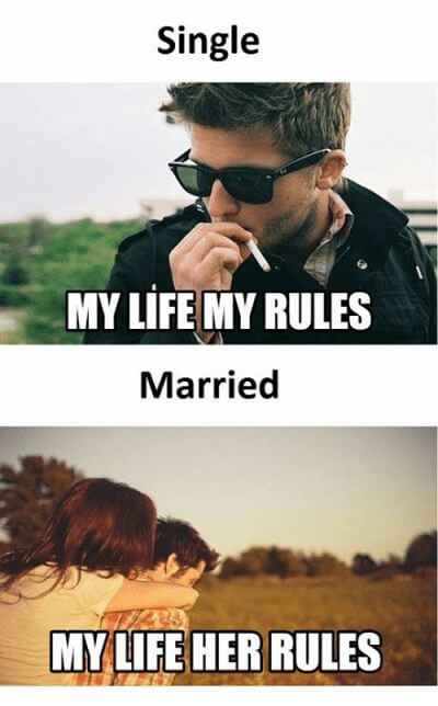 16 Funny Pictures Of The Startling Differences Between Single And Married Life - Rules all the way!