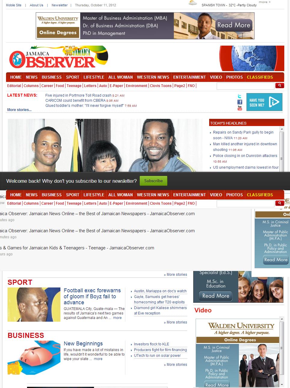 HISTÓRIA DO REGGAE: JAMAICA OBSERVER