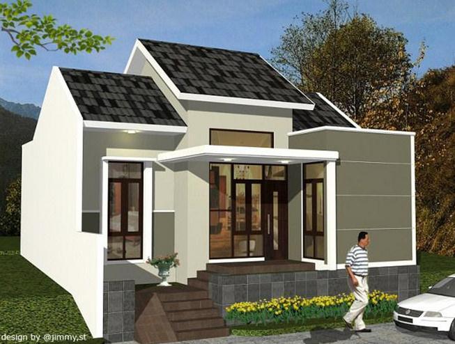 Desain rumah Minimalis 1 Lantai Unik Modern