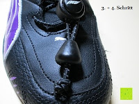 Schritt 3 und 4: Schnellverschluss Schnürsenkel von FAST MILE - Leistungsstarke Schuhbänder und Schnellschnürsystem - Premiumqualität Zweifarbige Reflektierende Elastische Sportschnürsenkel - Binden Sie Ihre Schuhe im Handumdrehen - Für Athleten, Läufer, Kinder, Ältere, Männer und Frauen empfohlen - 365 Tage 100% Zufriedenheitsgarantie (3 Paare)