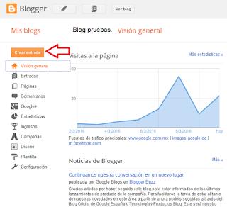 Como crear un Blog en Blogger /Tu Primer Entradas.