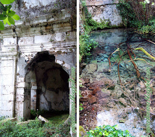 Igreja implodida com riacho em Cittaducale