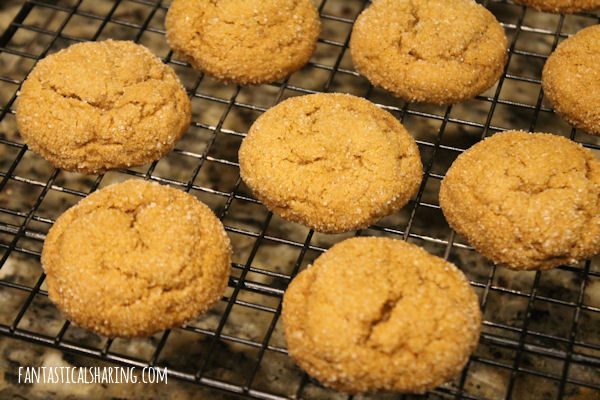 Pumpkin Molasses Cookies // These chewy cookies are everything spice and nice and you won't be able to stop at one! #recipe #pumpkin #molasses #cookies #dessert #SundaySupper