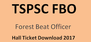 TSPSC FBO Hall Ticket Download 2017, Forget TSPSC ID
