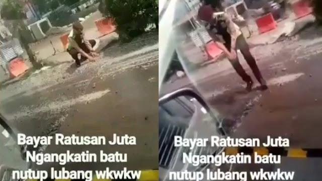 Captionmu Harimaumu Sebut Polisi Kerjanya Nutup Lubang Jalan, Nasib Pria Ini Tak Disangka Jadi Seperti Ini