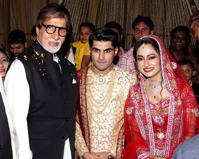 Amitabh Bachchan at Ali Khan Daughter Wedding Ceremony
