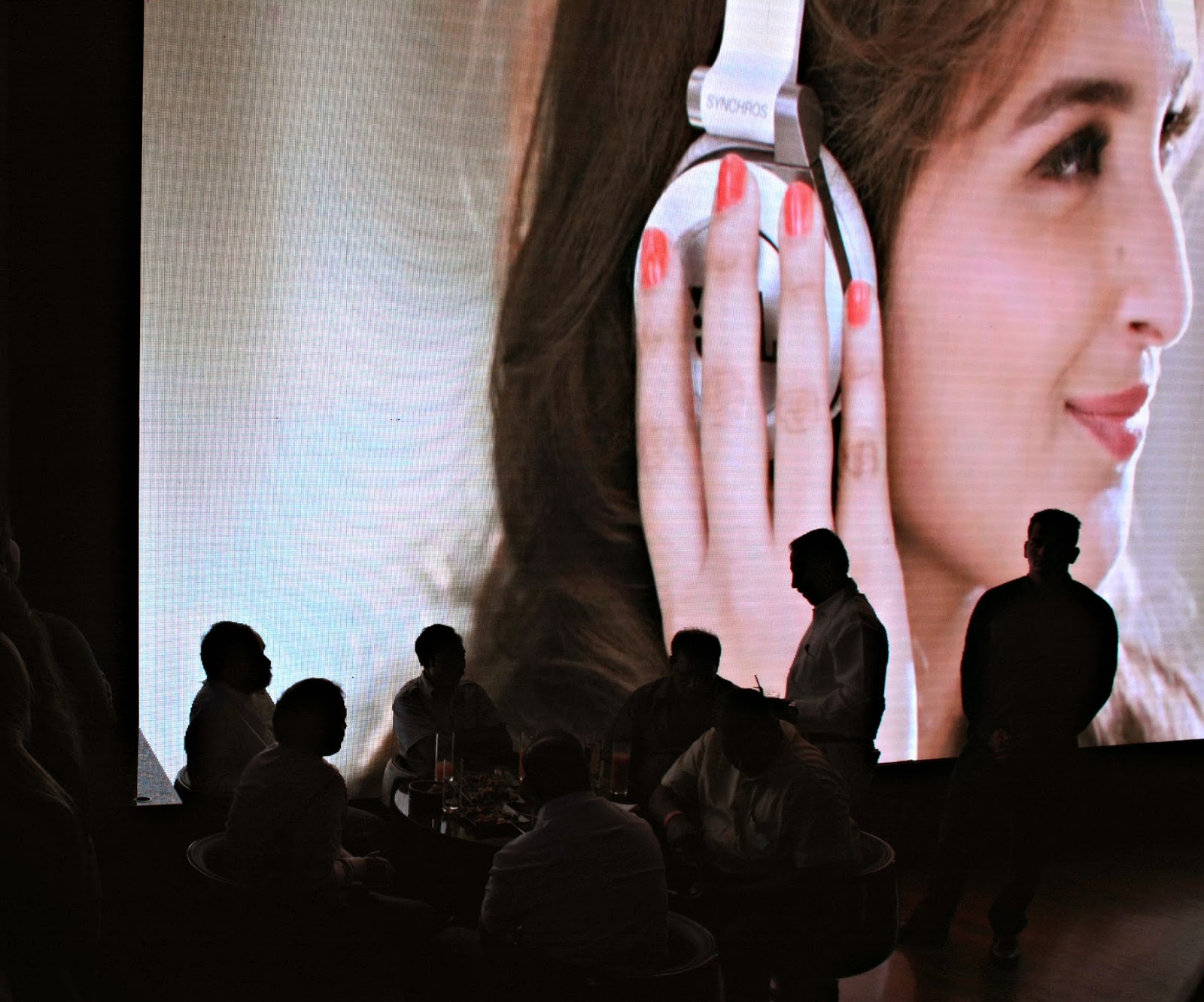 Parineeti Chopra's JBL Ad playing at JBL Just Be Loud Party
