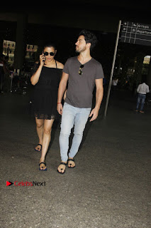 Actress Shruti Han Snapped at Airport in a Black Short Dress  0001.jpg